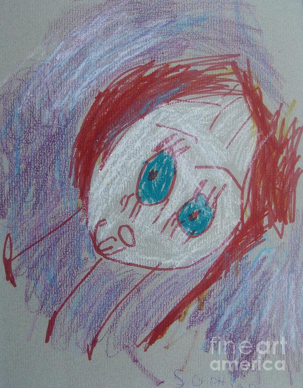 Portrait Drawing - Self-portrait. 2008. by Sophia Pontet
