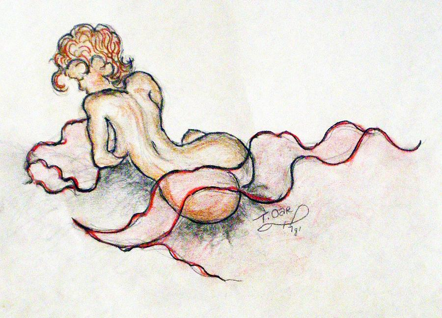 Nude Drawing - Self Portrait At 19 by Tammera Malicki-Wong