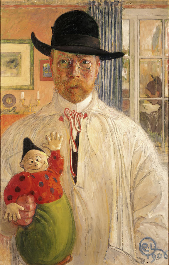 Carl Larsson Painting - Self-portrait by Carl Larsson