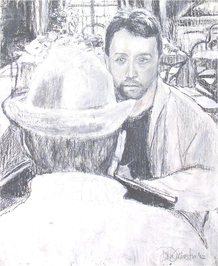 Self Portrait Drawing by Dominic Fetherston