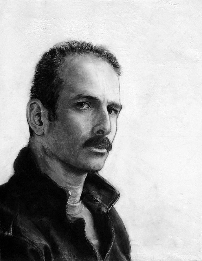 Self Portrait Drawing - Self Portrait by James Berger
