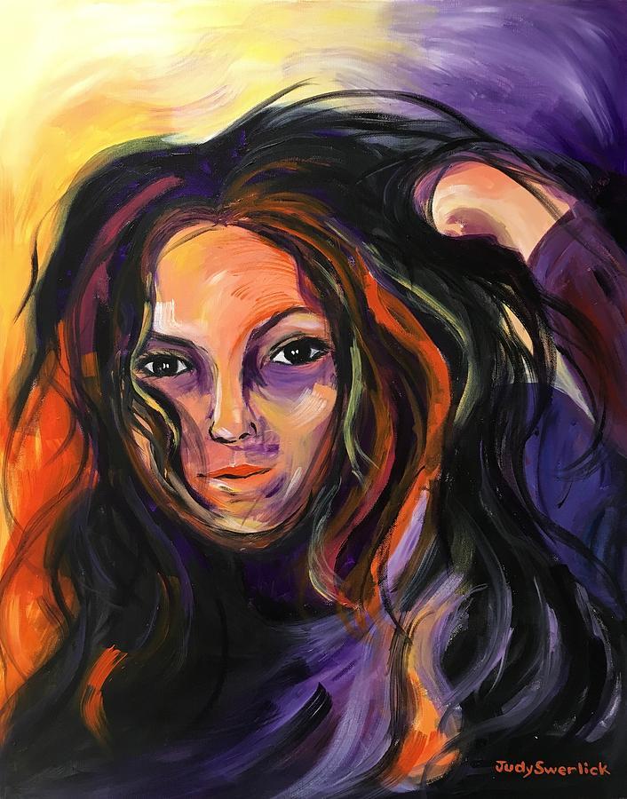 Self-portrait Painting - Self-Portrait  by Judy Swerlick