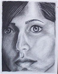 Self- Portrait  Drawing by Mary-Selvi Ingoldsby