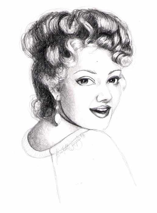 Portrait Drawing - Self Portrait by Scarlett Royal
