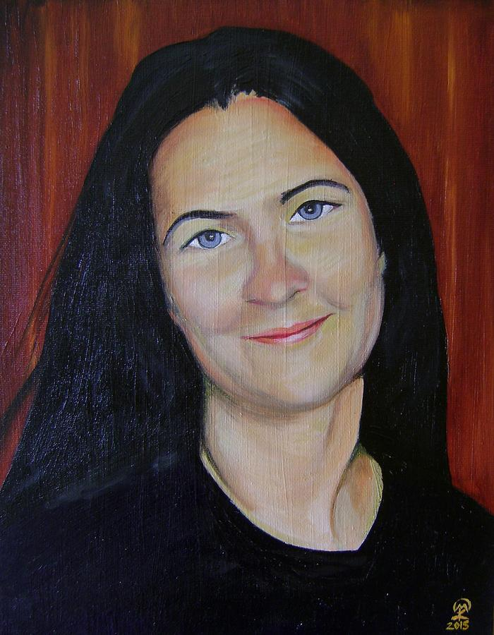Self-portrait Painting - Self-Portrait by Therese Legere