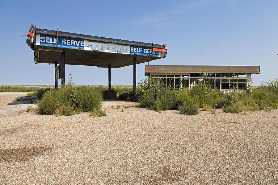 Route 66 Photograph - Self Serve by Rick Pisio