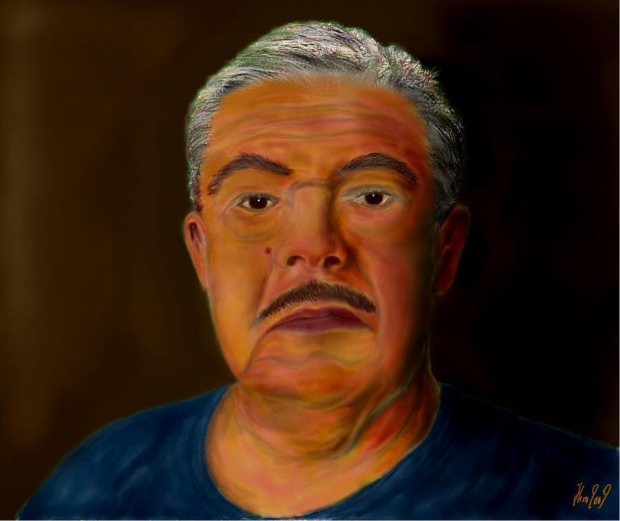 Selfportrait Painting - Selfportrait by Helmut Rottler
