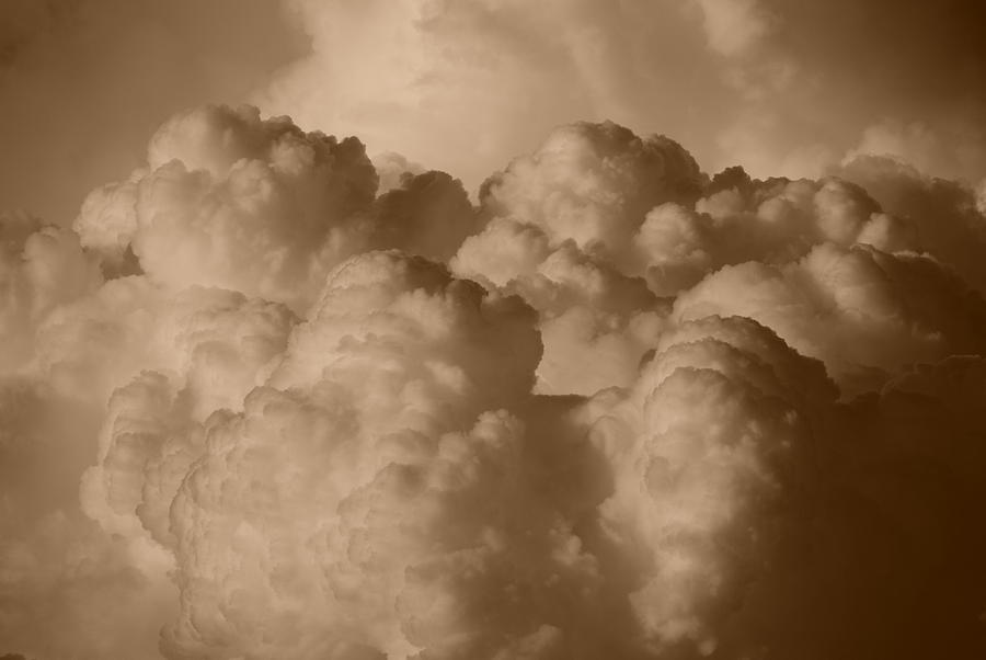 Sepia Photograph - Sepia Clouds by Rob Hans