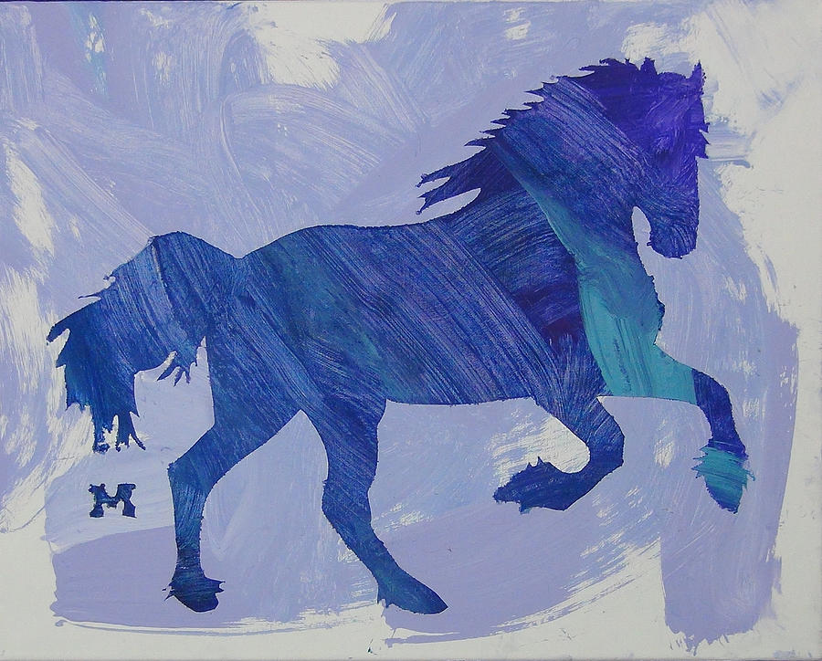 Horse Painting - Serendipity by Candace Shrope