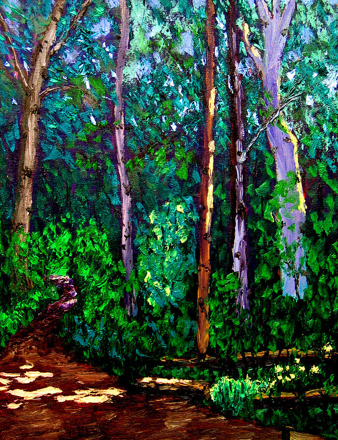 Woods Painting - Sewp 6 15 by Stan Hamilton