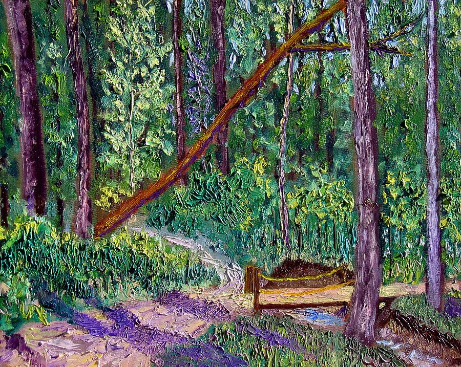 Landscape Painting - SEWP Trail Bridge by Stan Hamilton