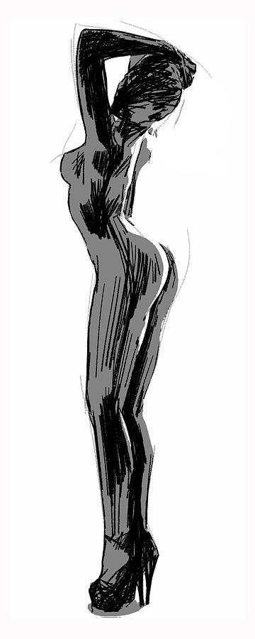 How to draw a sexy naked lady