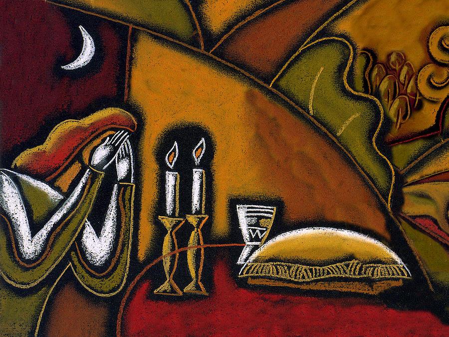Shabbat Shalom Painting by Leon Zernitsky