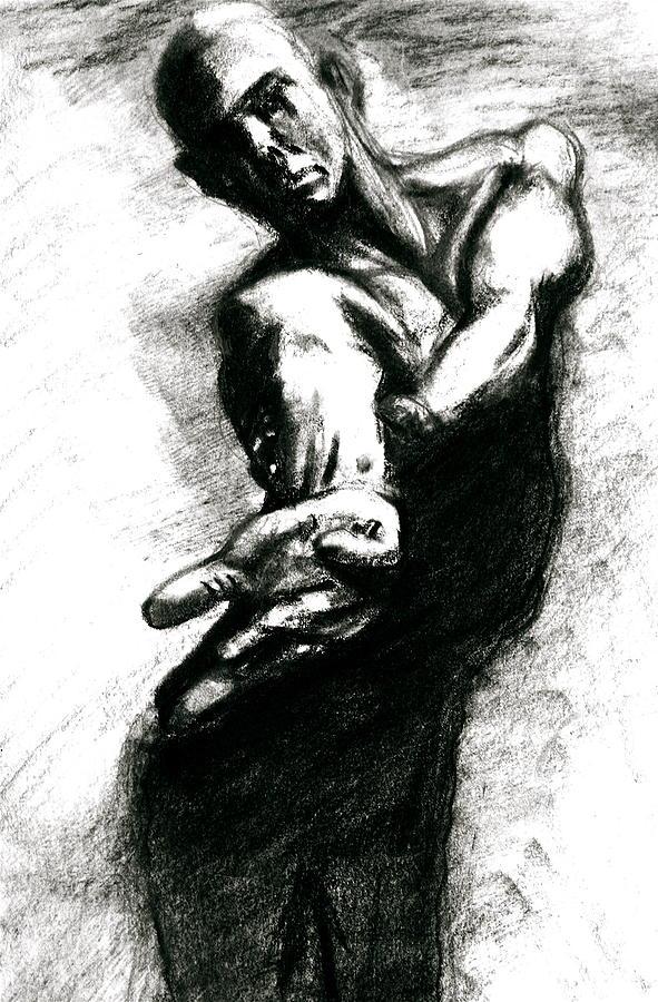 Sketch Drawing - Shadow Dancer by Dan Earle