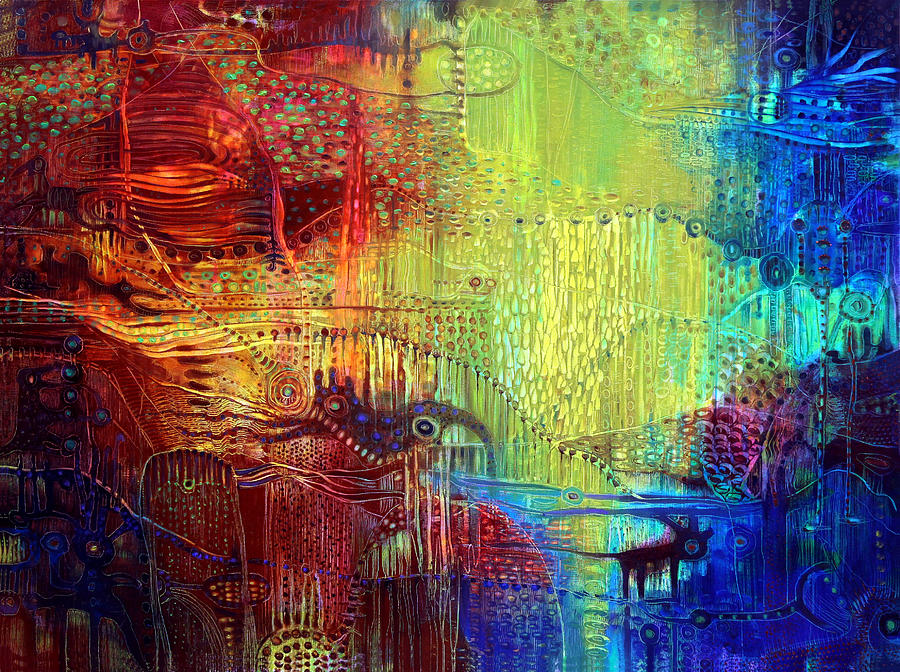 Surrealistic Painting - Shadows Of The Dream I by Lolita Bronzini