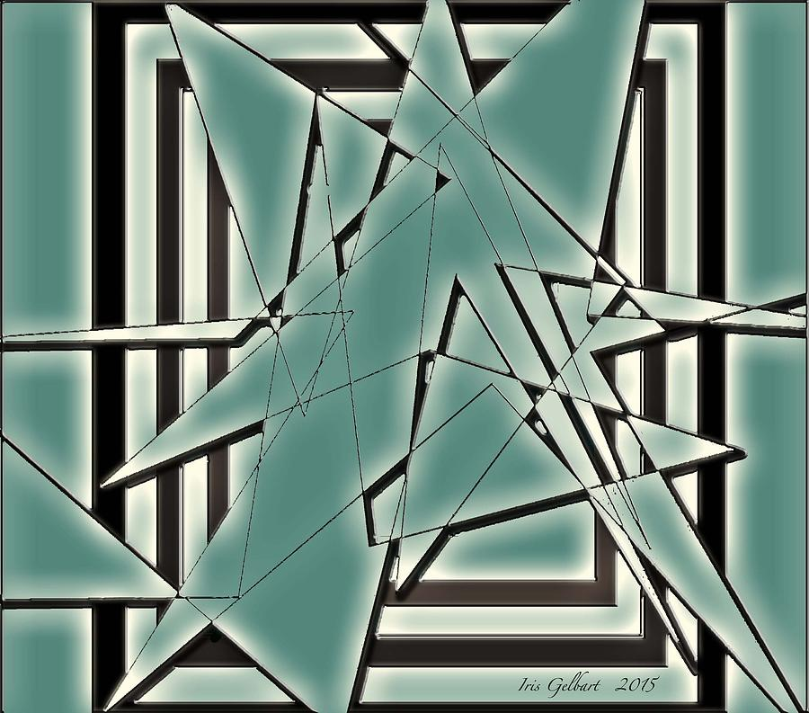 Abstract Photograph - Shattered by Iris Gelbart