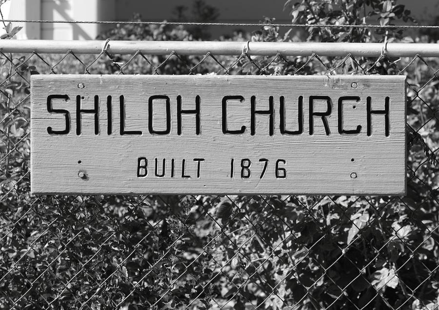 Antique Photograph - Shiloh Church Sign Birds Landing Ca by Troy Montemayor