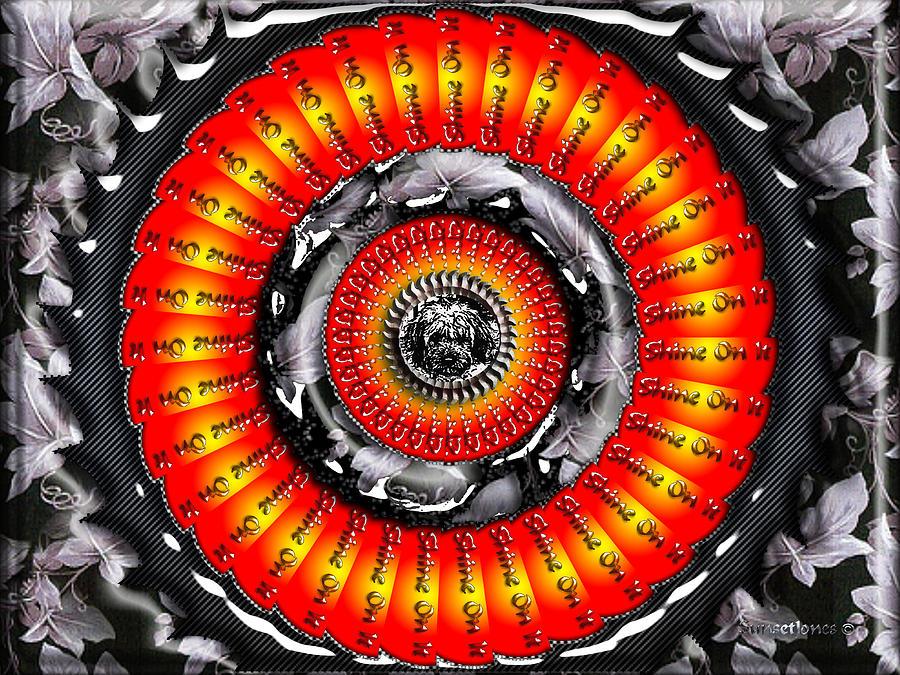 Orange Digital Art - Shine On It by Robert Orinski
