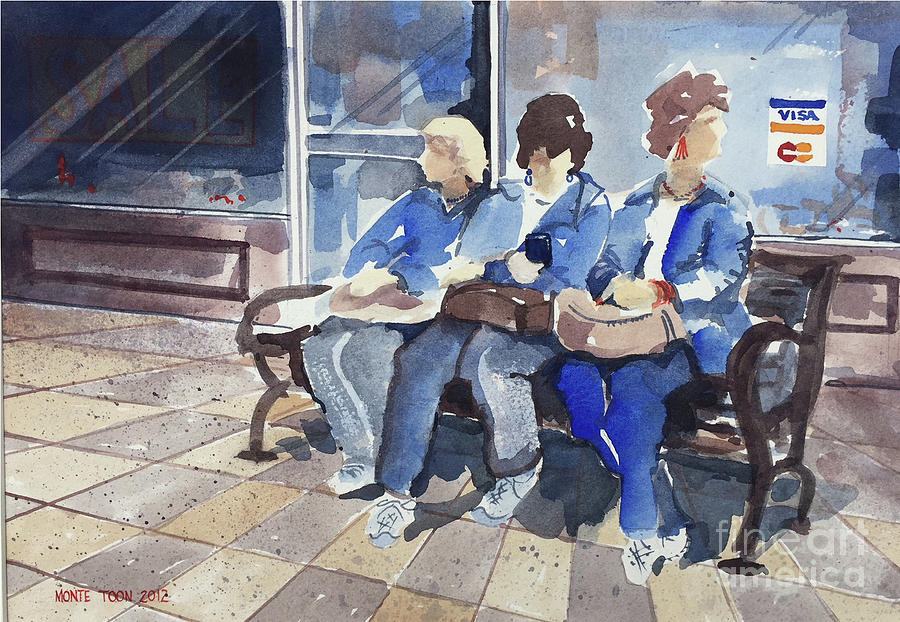 Shopping Painting by Monte Toon