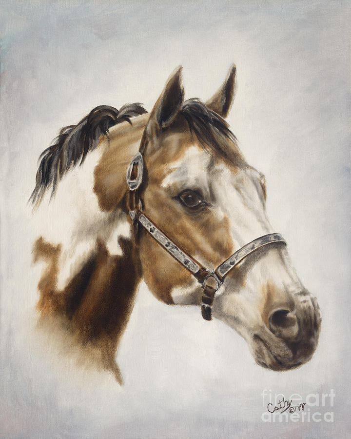 Horse Painting - Show Off by Cathy Cleveland