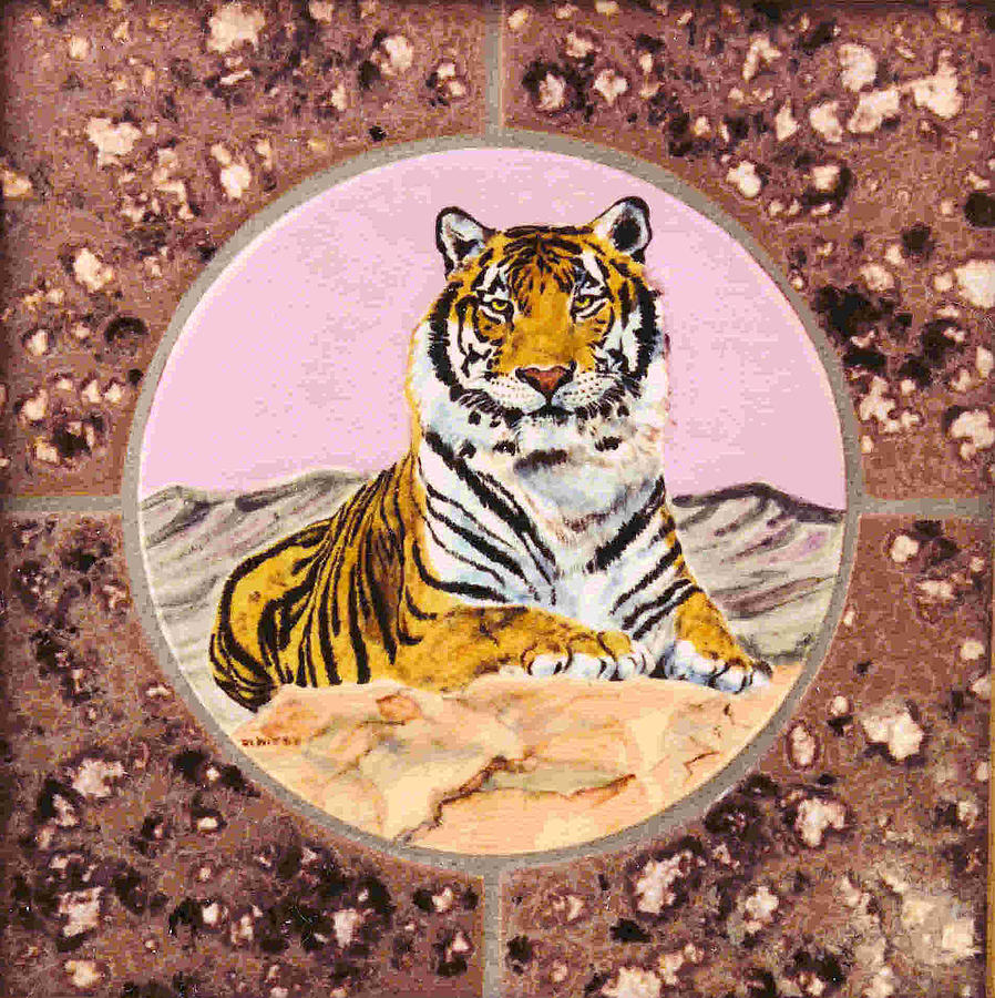 Tiger Painting - Siberian Tiger by Dy Witt