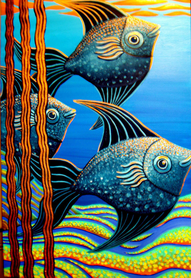 Fish Painting - Sillyfish 3 by Barbara Stirrup