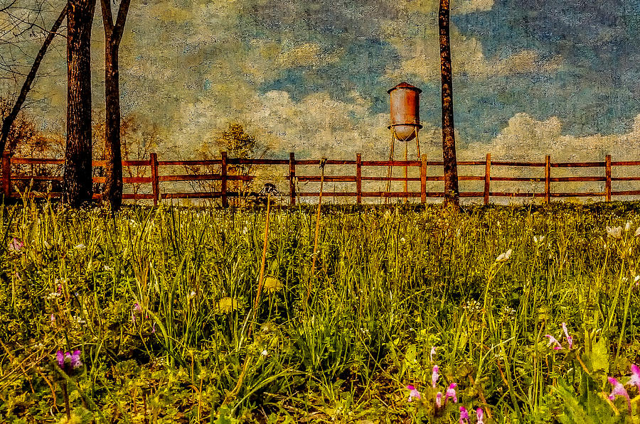 Water Tank Photograph - Siluria Cotton Mill by Phillip Burrow