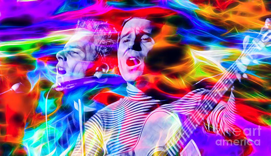 Simon And Garfunkel Mixed Media - Simon And Garfunkel by Marvin Blaine