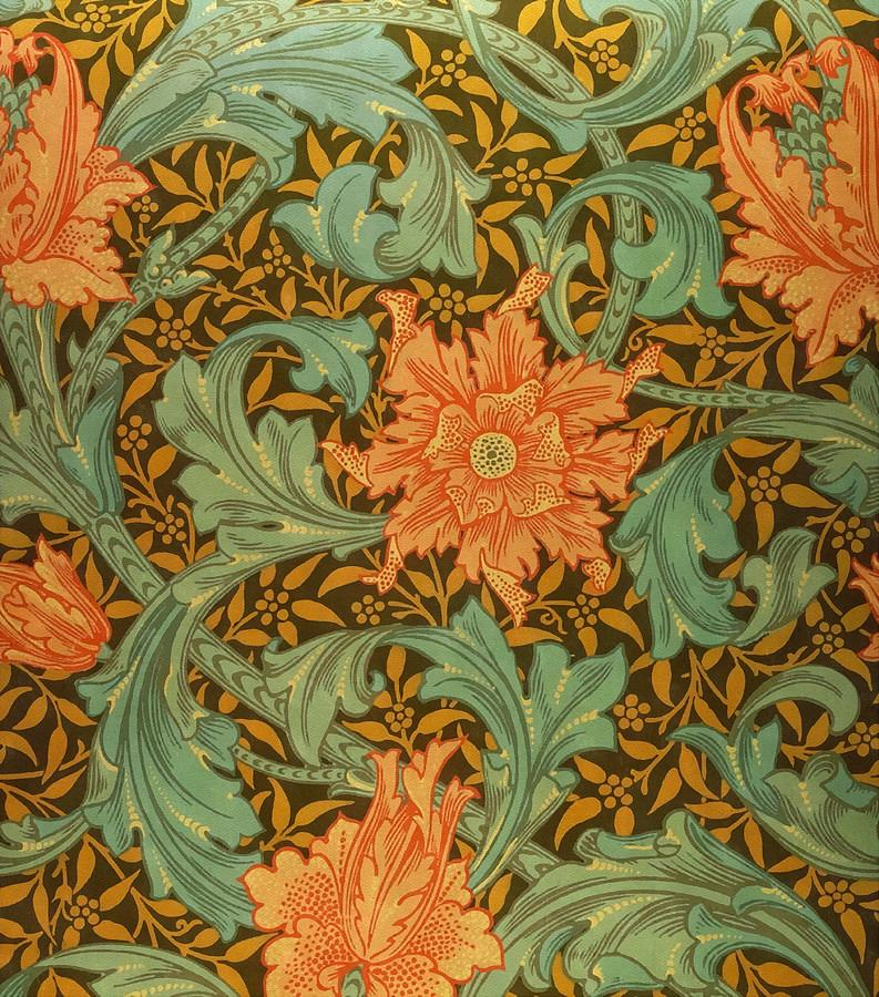 William Morris Painting - Single Stem Pattern by William Morris