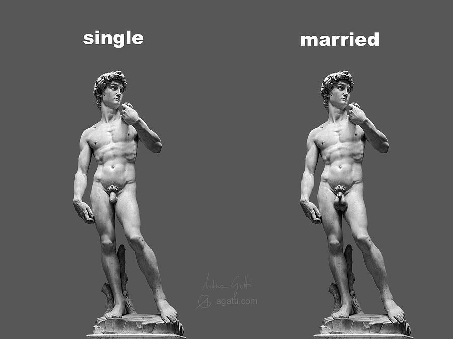 David Digital Art - Singlemarried Png by Andrea Gatti