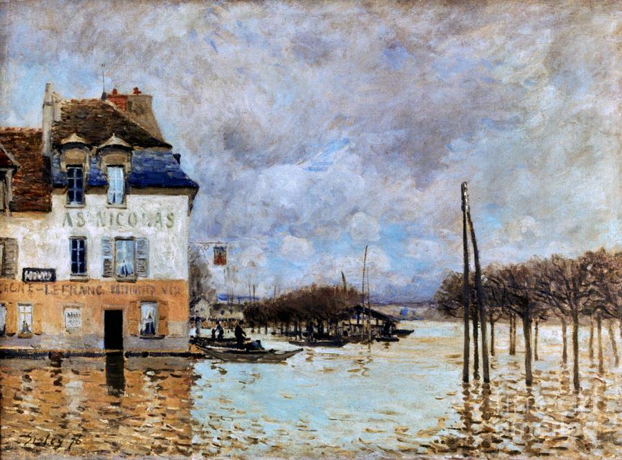 1876 Photograph - Sisley: Flood, 1876 by Granger