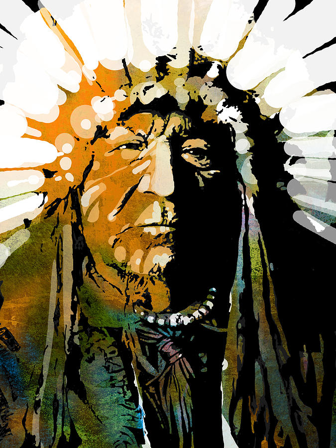 Native American Painting - Sitting Bear by Paul Sachtleben
