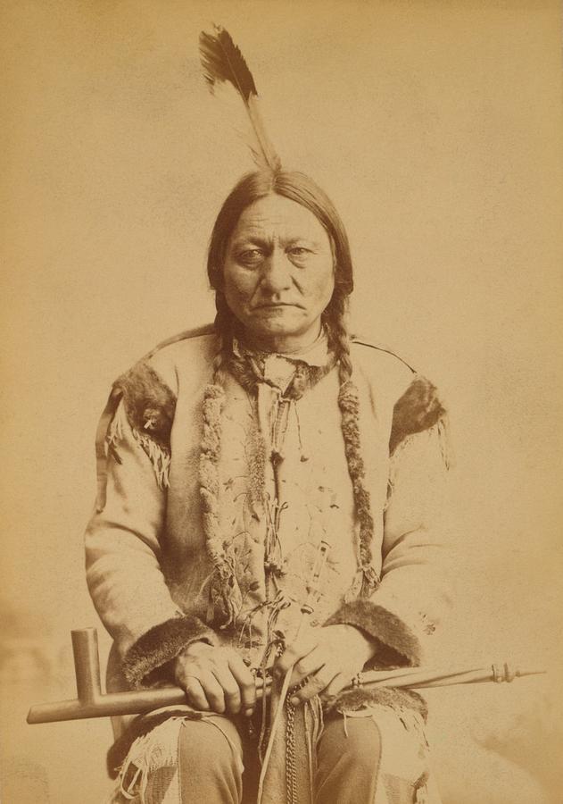 History Photograph - Sitting Bull 1831-1890, Lakota Sioux by Everett