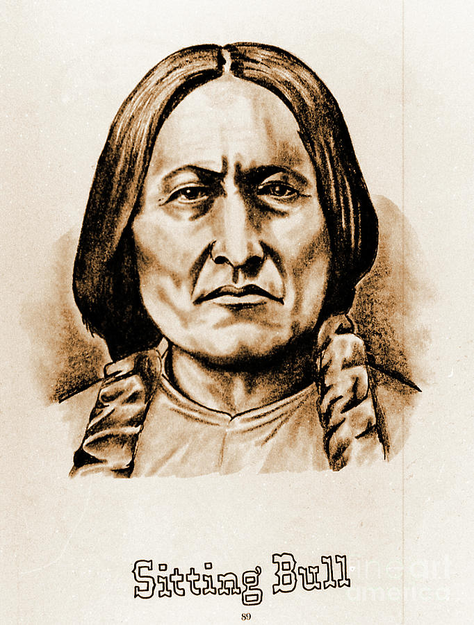 American Photograph - Sitting Bull by Gary Wonning