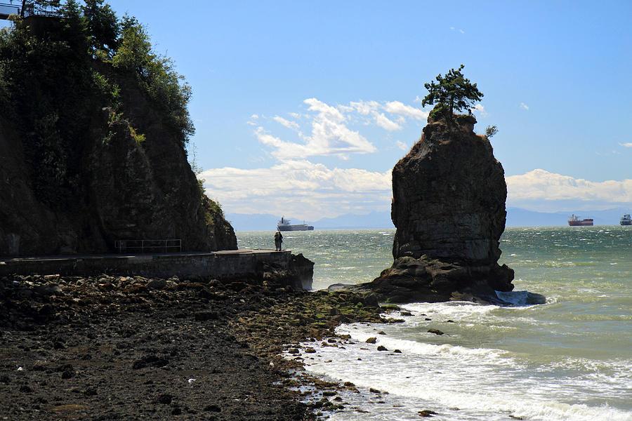Siwash Photograph - Siwash Rock Stanley Park Vancouver by Pierre Leclerc Photography