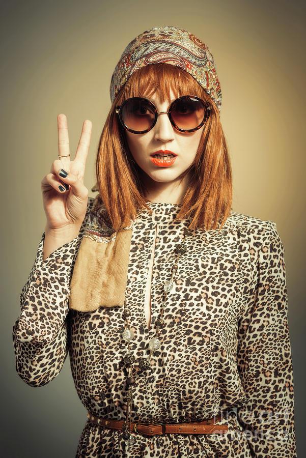 Vintage Photograph - Sixties Retro Fashion by Amanda Elwell