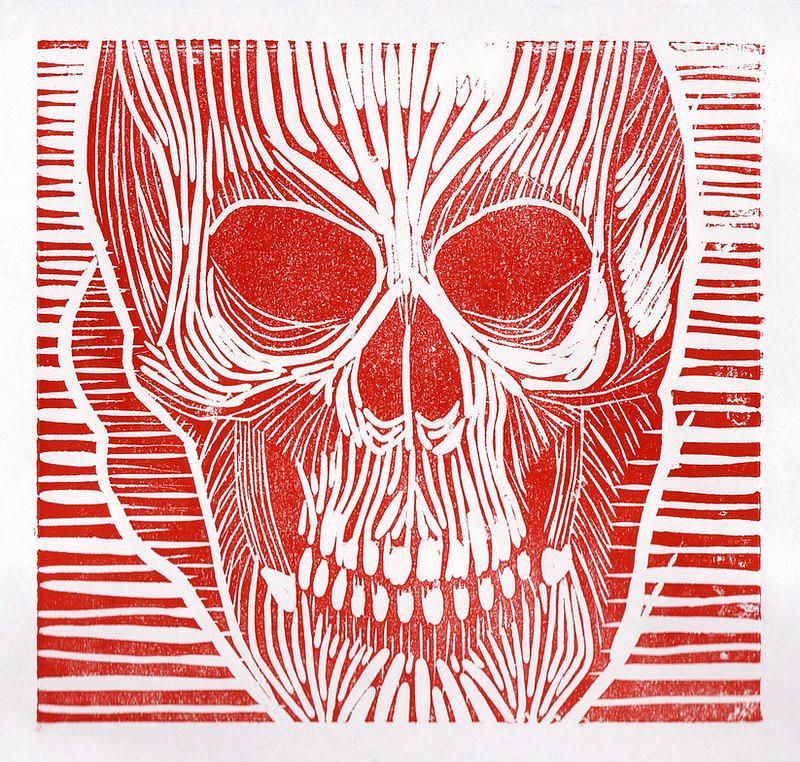 Skull Painting - Skull by Daniel Ribeiro