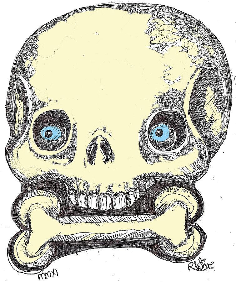 Contemporary Digital Art - Skullnbone by Robert Wolverton Jr