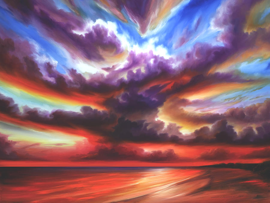 Sunrise Painting - Skyburst by James Christopher Hill