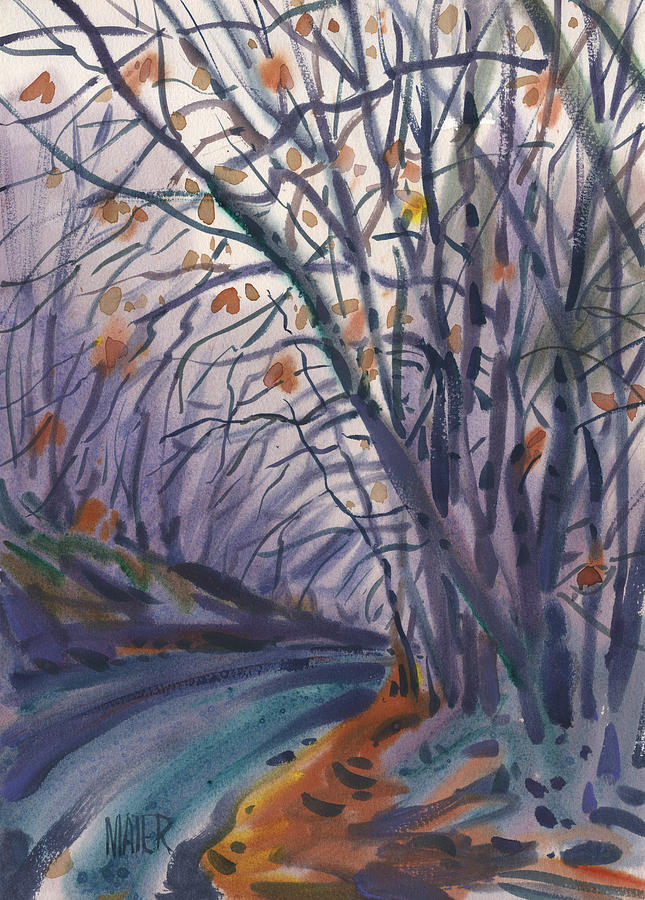 Road Painting - Skyline Drive by Donald Maier