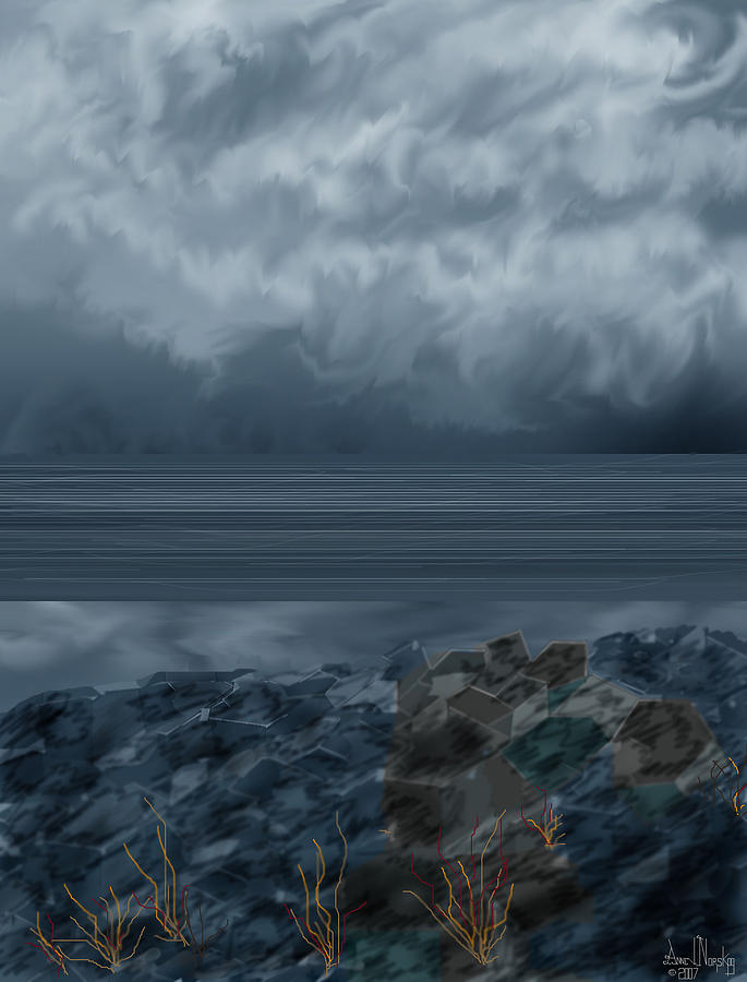 Slack Tide On The Jetty Painting