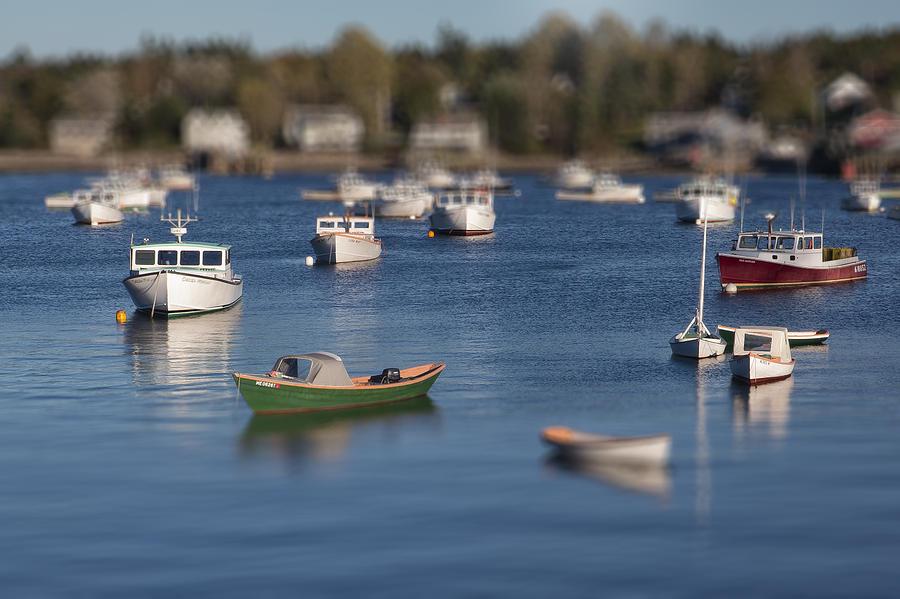 Maine Photograph - Sleeping Boats by Jon Glaser