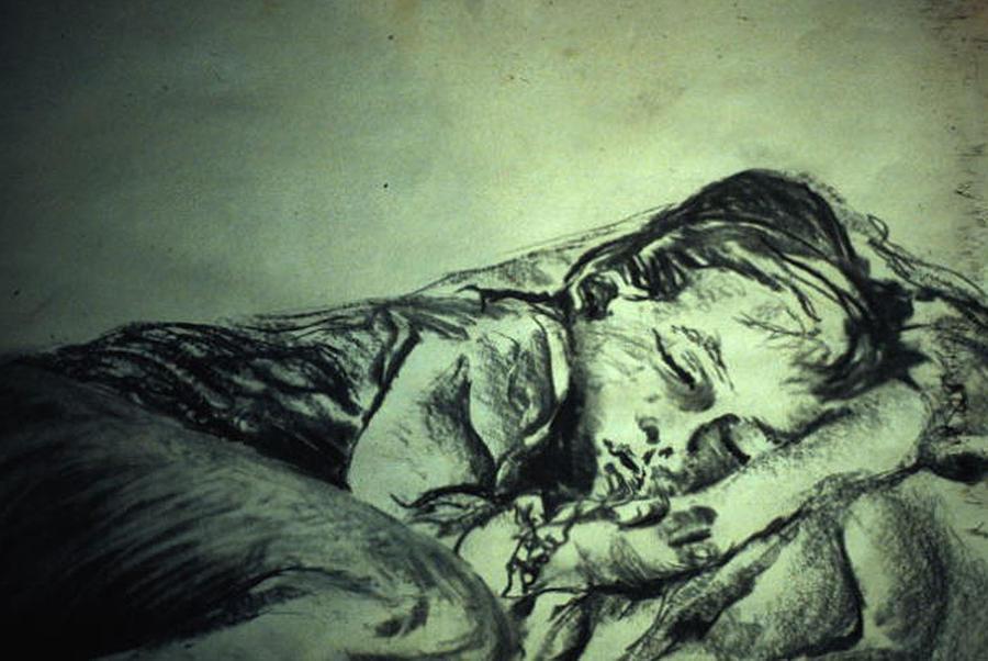 Sleeping Child Drawing