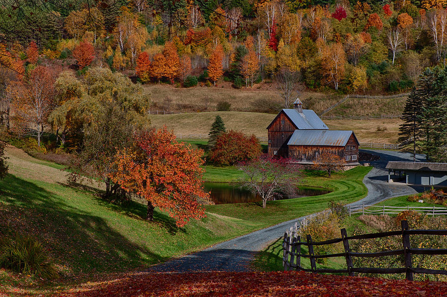 Autumn Photograph - Sleepy Hollow Farm by Jeff Folger