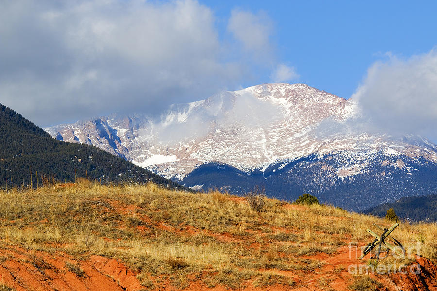 Snow Capped Pikes Peak Colorado Photograph