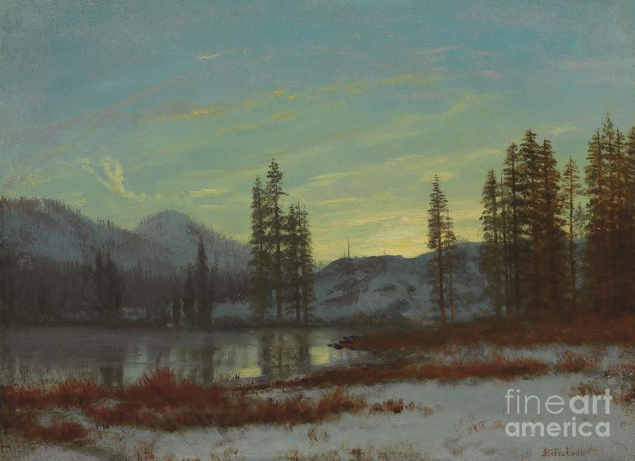 Albert Painting - Snow In The Rockies by Albert Bierstadt