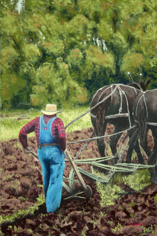 Draft Horses Painting - Sod Buster by Carl Capps