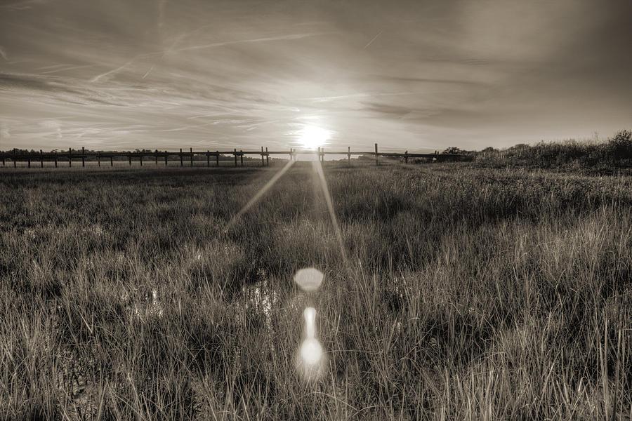 Dock Photograph - Sol Legare Sunset by Dustin K Ryan