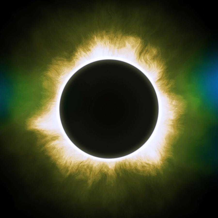 Solar Eclipse In Infrared Painting