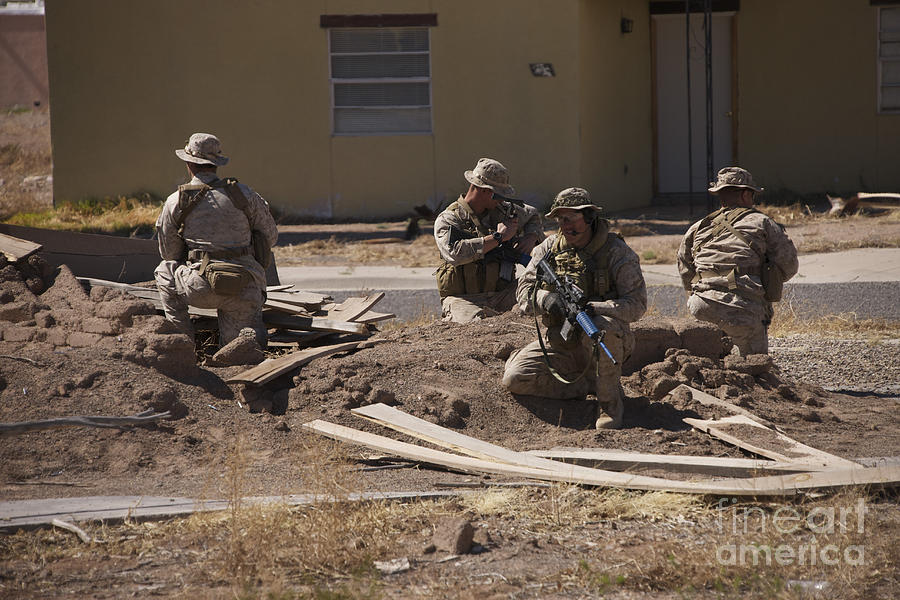 Soldiers Conduct Combat Training Photograph